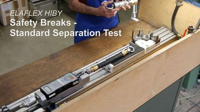 Safety Breaks SSB 16 and ESB 16: Standard Separation Test