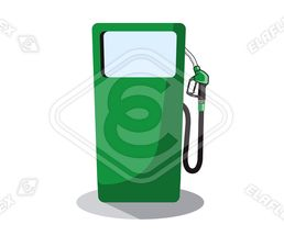 Icon / Clipart<br />Petrol Station Dispenser Pump & Nozzle (green)