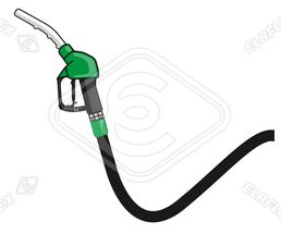 Icon / Clipart<br />Petrol Station Nozzle & Hose (green)