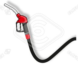 Icon / Clipart<br />Petrol Station Nozzle & Hose (red)
