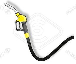 Icon / Clipart<br />Petrol Station Nozzle & Hose (yellow)