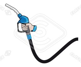 Icon / Clipart<br />Petrol Station Nozzle & Hose Hand (blue)