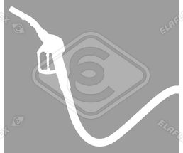 Icon / Clipart<br />Petrol Station Nozzle & Hose Silhouette